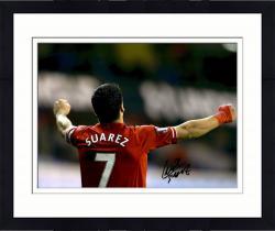 """Framed Luis Suarez Liverpool F.C. Autographed 12"""" x 16"""" Celebration Photograph"""