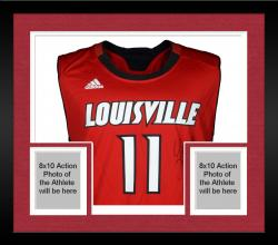 Framed Luke Hancock Louisville Cardinals Autographed Replica Red Jersey