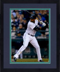 "Framed Robinson Cano Seattle Mariners Autographed 16"" x 20"" Vertical White Jersey Photograph"