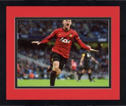 "Framed Wayne Rooney Autographed 8"" x 12"" Action Photograph"