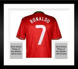 Framed Cristiano Ronaldo Portugal Autographed Jersey