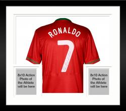 Framed Cristiano Ronaldo Portugal Autographed Jersey