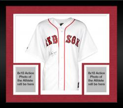 Framed Pedro Martinez Autographed Red Sox Jersey