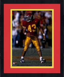"Framed Troy Polamalu USC Trojans Autographed 16"" x 20"" Photograph"