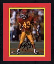 "Framed Troy Polamalu USC Trojans Autographed 8"" x 10"" Photograph"