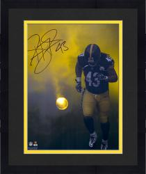 Framed Troy Polamalu Pittsburgh Steelers Autographed 16'' x 20'' Smoke Photograph