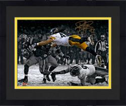 Framed Troy Polamalu Pittsburgh Steelers Autographed 11'' x 14'' Spotlight Photograph