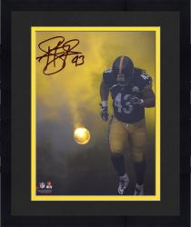 Framed Troy Polamalu Pittsburgh Steelers Autographed 8'' x 10'' Smoke Photograph