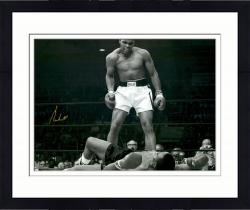 "Framed Muhammad Ali Autographed 20"" x 24"" Over Liston Photograph"
