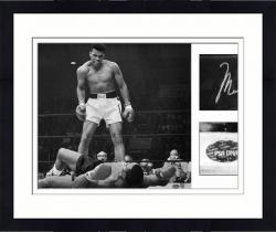 "Framed Muhammad Ali Autographed 20"" x 24"" vs Sonny Liston Knockdown Photograph"