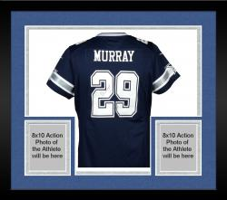 Framed Demarco Murray Autographed Jersey - Mounted Memories