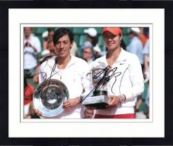 "Framed Li Na & Francesca Schiavone Dual Autographed 8"" x 10"" French Open Photograph"
