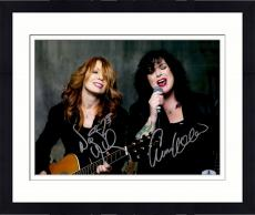 "Framed Nancy Wilson And Ann Wilson Autographed 11"" x 14"" Heart Dark Background Photograph - Beckett COA"