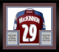 Framed Nathan MacKinnon Colorado Avalanche Autographed Maroon Reebok Jersey