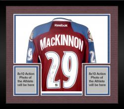 Framed Nathan MacKinnon Colorado Avalanche Autographed Reebok Jersey with 2014 Calder Inscription