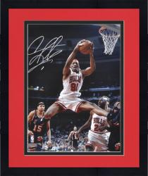 "Framed NBA Chicago Bullls Dennis Rodman Autographed 16"" x 20"" Photo vs. Miami Heat"
