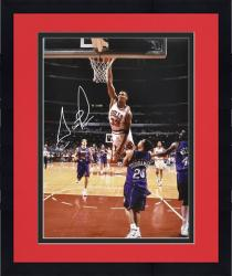 "Framed NBA Chicago Bullls Scottie Pippen Autographed 16"" x 20"" Photo vs. Toronto Raptors"