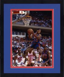 Framed NBA Chicago Bulls Dennis Rodman Autographed 8'' x 10'' Photo vs. Detroit Pistons