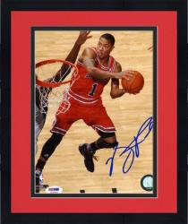 "Framed NBA Chicago Bulls Derrick Rose Autographed 8"" x 10"" Photo"