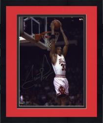 "Framed NBA Chicago Bulls Scottie Pippen Autographed 8"" x 10"" Photo -"
