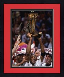 "Framed NBA Chicago Bulls Scottie Pippen Autographed 8"" x 10"" Photo Holding Trophy"