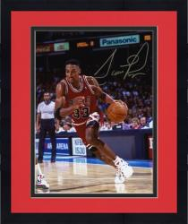 "Framed NBA Chicago Bulls Scottie Pippen Autographed 8"" x 10"" Photo vs. Toronto Raptors"