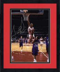"Framed Scottie Pippen Chicago Bulls Autographed 8"" x 10"" Photo vs. Toronto Raptors"
