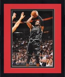 Framed NBA Miami Heat Dwyane Wade Autographed 16'' x 20'' Photo vs. New York Knicks
