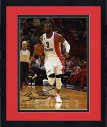 "Framed Dwyane Wade Miami Heat Autographed 8"" x 10"" Dribbling Up Court Photograph"