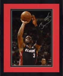 "Framed Dwyane Wade Miami Heat Autographed 8"" x 10"" Chalmers in Background Photograph"