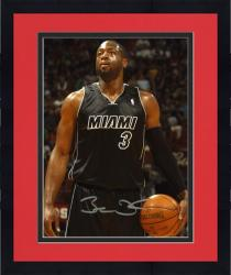 "Framed Dwyane Wade Miami Heat Autographed 8"" x 10"" Ball in Left Hand Photograph"