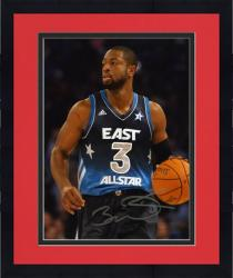 "Framed NBA Miami Heat Dwyane Wade Autographed 8"" x 10"" Photo All-Star Game"