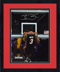 "Framed Dwyane Wade Miami Heat Autographed 8"" x 10"" Head Through Rim Photo"