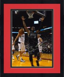 "Framed NBA Miami Heat Dwyane Wade Autographed 8"" x 10"" Photo vs Dallas Mavericks"