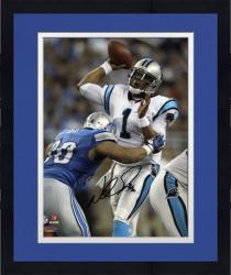 """Framed Ndamukong Suh Detroit Lions Autographed 8"""" x 10"""" Tackling Cam Newton Photograph"""