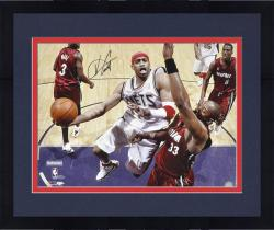 "Framed New Jersey Nets Vince Carter Autographed 16"" x 20"" Photo"