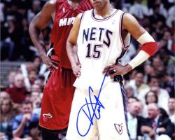 Framed New Jersey Nets Vince Carter Autographed Photo -