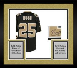 Framed New Orleans Saints Reggie Bush Black Signed Jersey