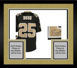 Framed New Orleans Saints Reggie Bush Black Signed Jersey