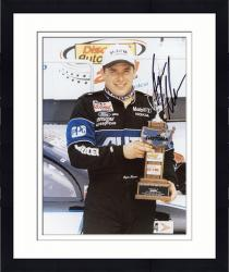 Framed NEWMAN, RYAN AUTO (ALLTELL/HOLDING TROPHY) 8X10 PHOTO - Mounted Memories