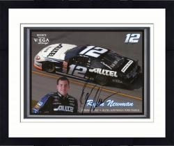 Framed Ryan Newman Autographed 8'' x 10'' Alltel Techpit Tour 2002 Photograph
