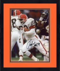 Framed Ozzie Newsome Cleveland Browns Fanatics Authentic Autographed 8'' x 10'' vs. Running Ball Photograph