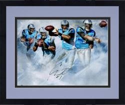 Cam Newton Panthers Framed Autographed 20x24 Photo