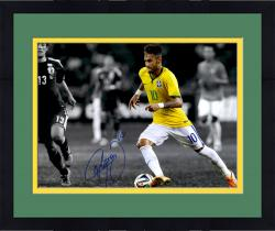 "Framed Neymar Brazil National Team Autographed 16"" x 20"" Spotlight Photograph"
