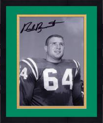 """Framed Nick Buoniconti Notre Dame Fighting Irish Autographed 8"""" x 10"""" Black & White Photograph"""