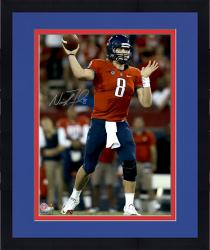 "Framed Nick Foles Arizona Wildcats Autographed 16"" x 20"" Vertical Red Uniform Photograph with Go Cats Inscription"