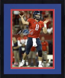 "Framed Nick Foles Arizona Wildcats Autographed 8"" x 10"" Vertical Red Uniform Photograph"