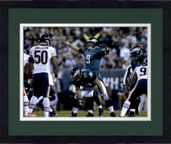 "Framed Nick Foles Philadelphia Eagles Autographed 16"" x 20"" Horizontal Green Uniform On Line Photograph"