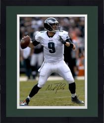 "Framed Nick Foles Philadelphia Eagles Autographed 16"" x 20"" Vertical Passing Photograph"