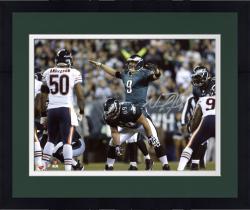 "Framed Nick Foles Philadelphia Eagles Autographed 8"" x 10"" Horizontal Green Uniform On Line Photograph"